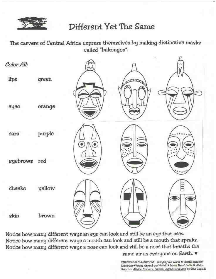 Afrika Maskers Maken Ceremonieel Afrikanische Kunst