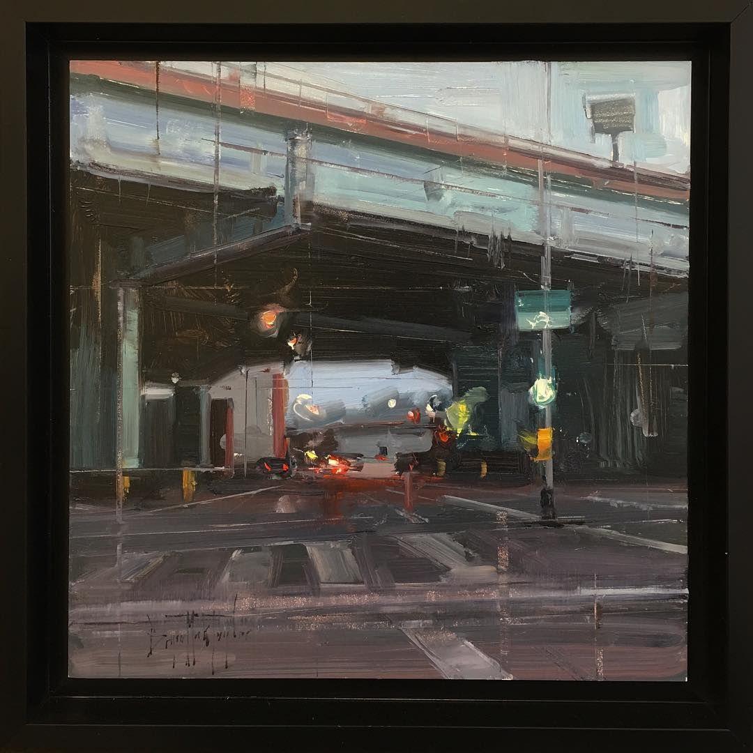 """Overpass. 12""""x12"""" #bryanmarktaylor #artoftheday #instaart #artwork #arte #art_spotlight #instaart #artist #oilpainting"""
