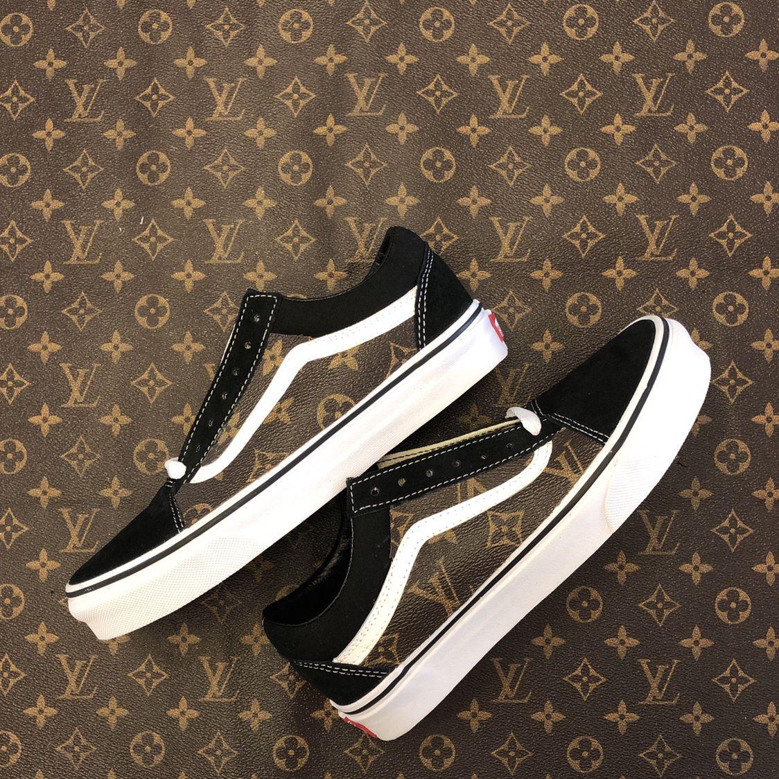 VANS Old Skool Platform sneakers zwartwit Busjes, Zwart