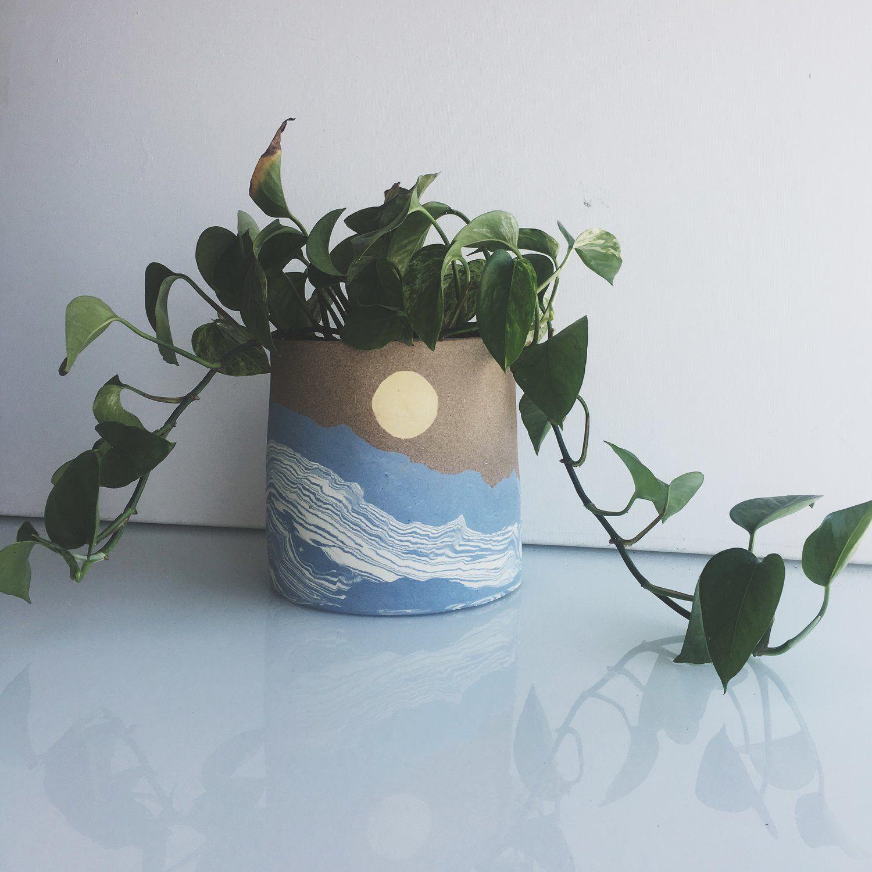 Ocean Art Planter Pot