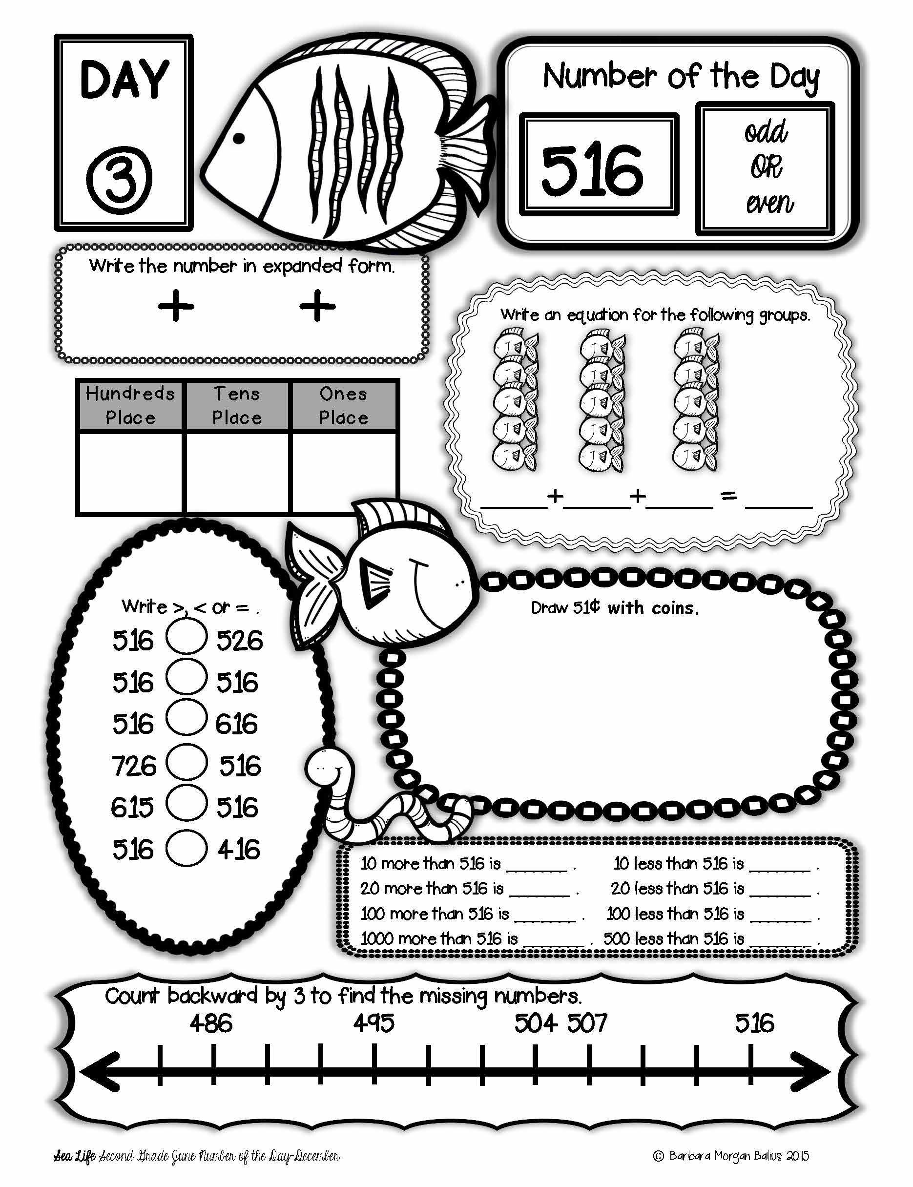 Number Of The Day June Second Grade Place Value 1st Grade Math Worksheets Second Grade Math 2nd Grade Math [ 2431 x 1870 Pixel ]