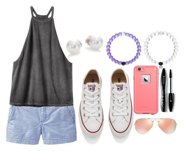 """""""Spring Break Eleanor//@mejjycejjy810"""" by the-southern-belles ❤ liked on Polyvore featuring Old Navy, RVCA, Converse, Ray-Ban, LifeProof, Lancôme and Mikimoto"""