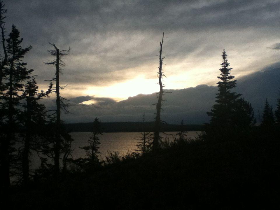 Sunset on Lake Yellowstone
