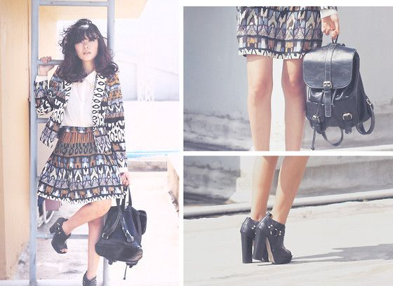 Sonia Eryka - Wear Zs Patterned Blazer, Forever 21 White