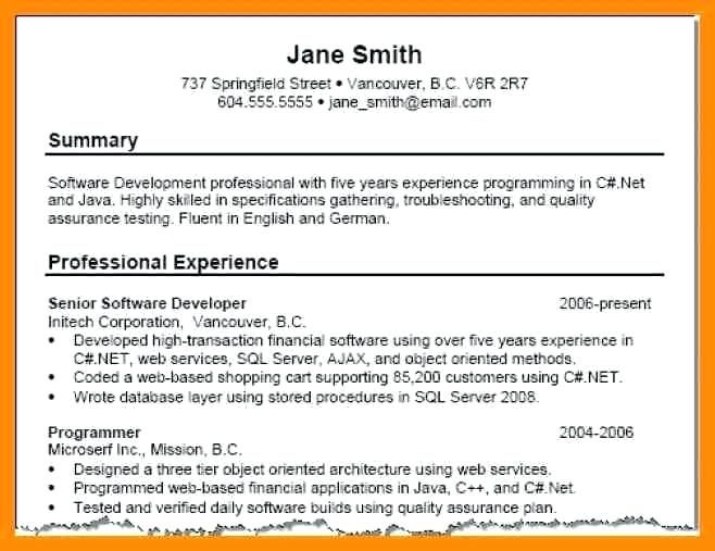 With Summary in 2018 Resume Examples Pinterest Resume examples - Example Of A Resume Summary