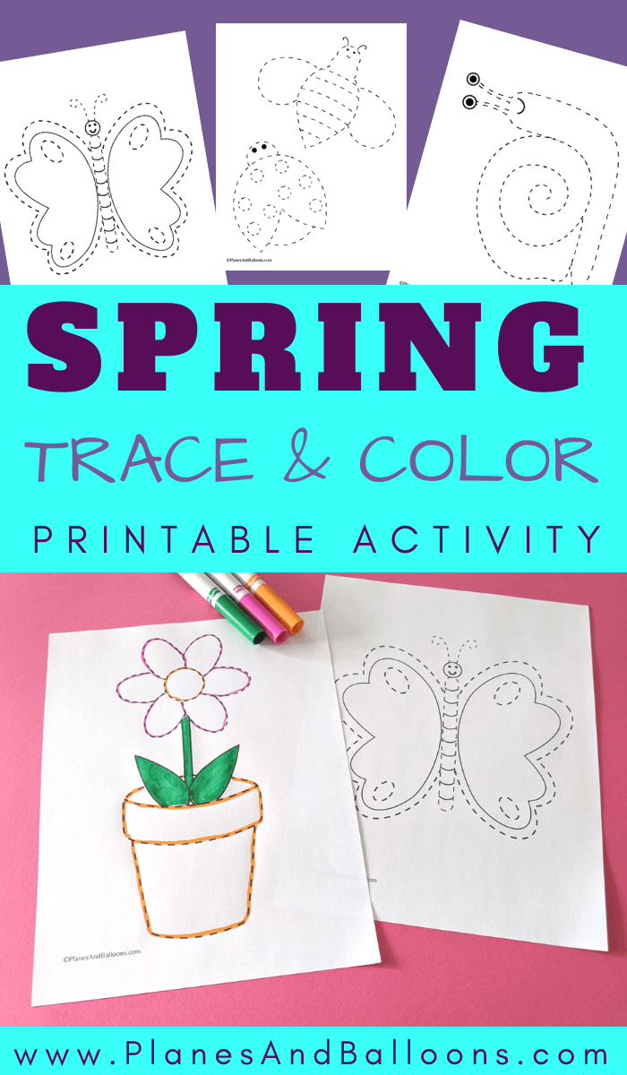 Spring Trace And Color Free Preschool Printables Preschool Tracing Preschool Worksheets Free Printables [ 1200 x 700 Pixel ]
