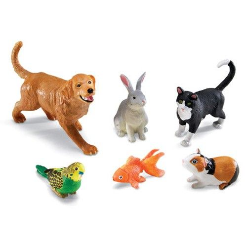 toddlers and toys jumbo pets 6 pc animal figurines playset from educational toys planet. Black Bedroom Furniture Sets. Home Design Ideas
