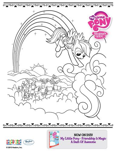 My Little Pony Friendship Is Magic Printable Coloring Page