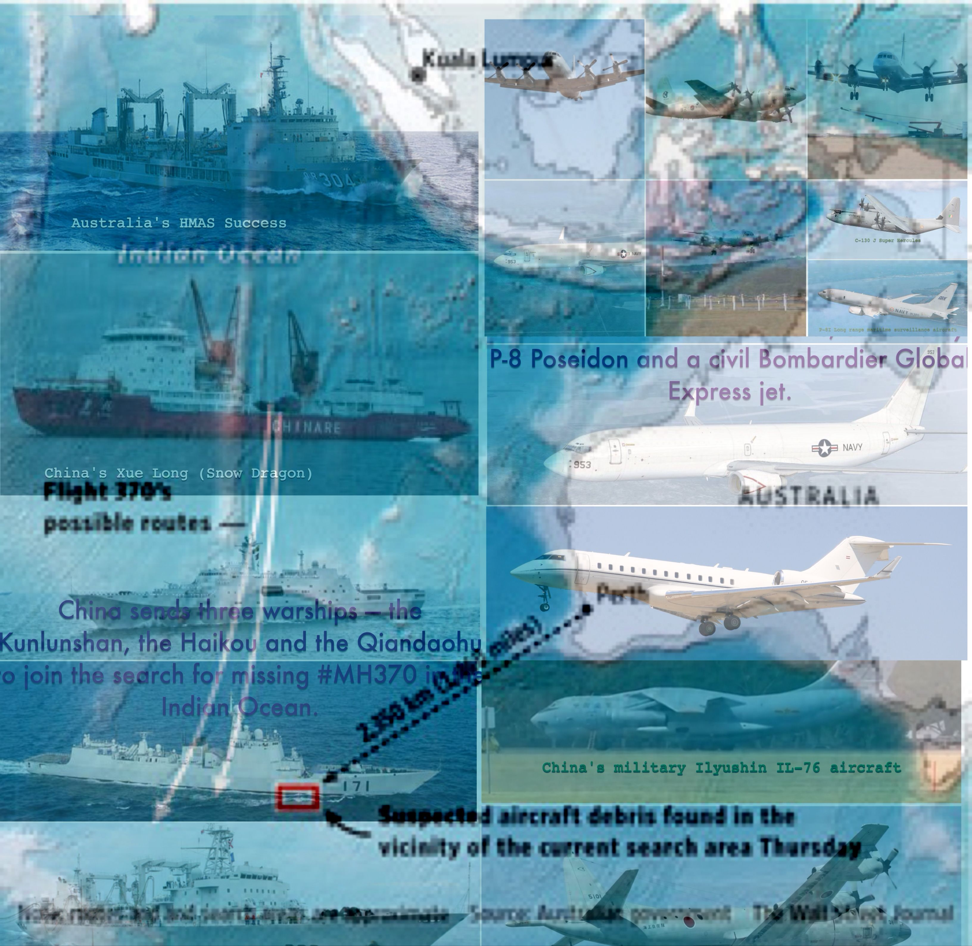 Planes, ships resume search on March 28 for missing MH370