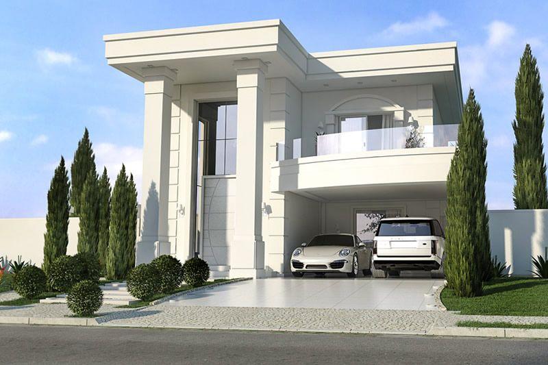 planta de casa neoclassica fachada casas pinterest