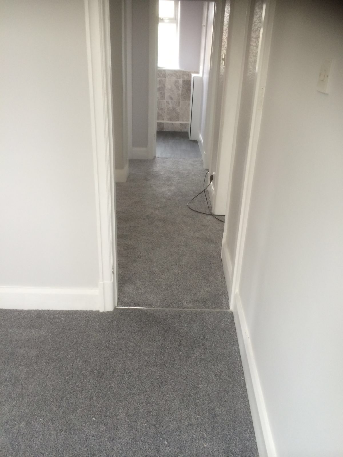 Charcoal Carpet Bedroom Dark Grey Bedroom And Landing Carpet Fitted In Romiley