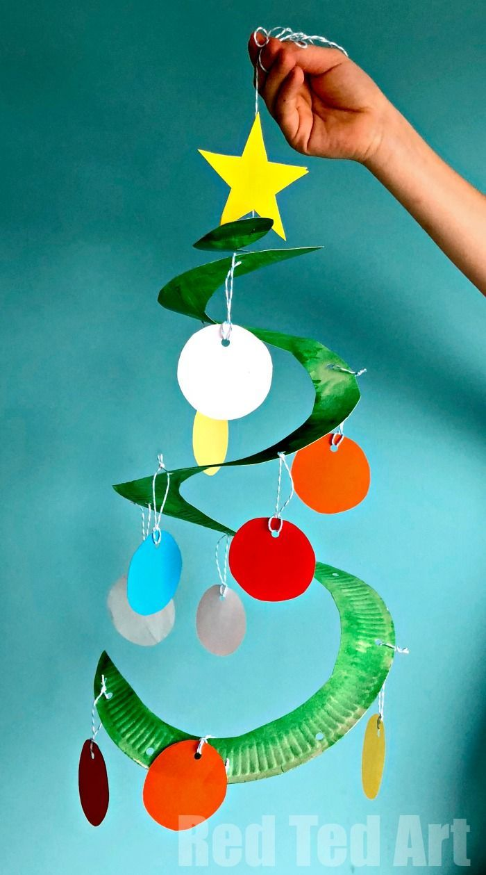 Photo of Paper Plate Christmas Tree Whirligig – Red Ted Art – Make crafting with kids easy & fun