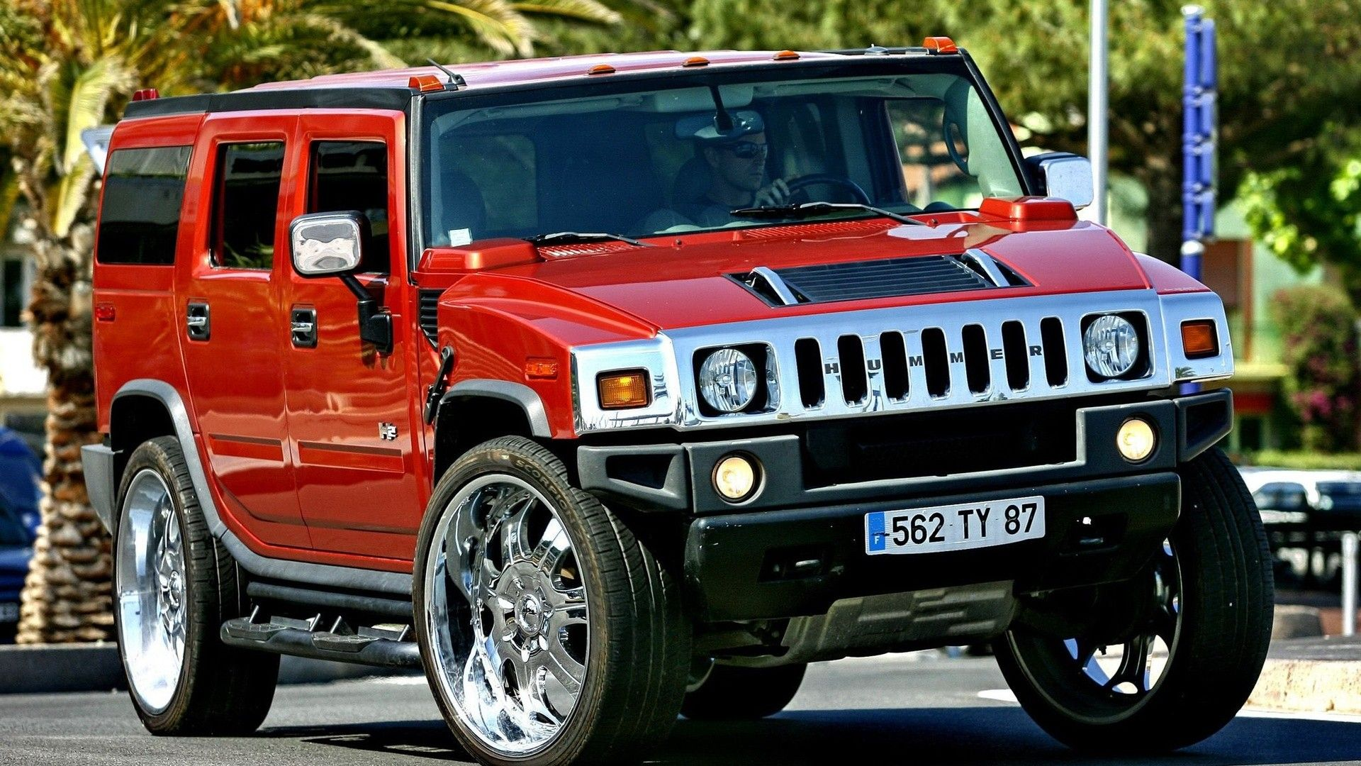 A Red Hummer