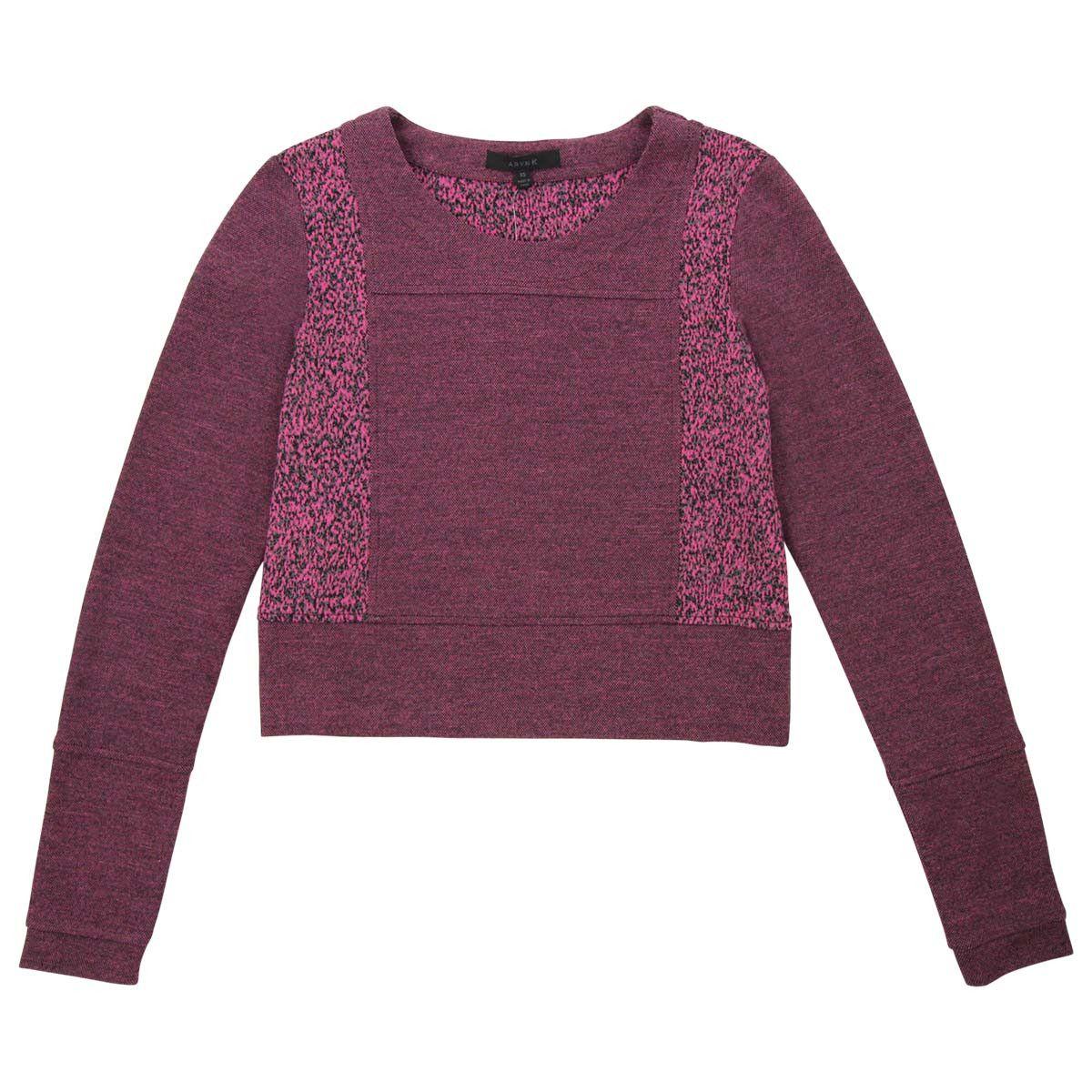 "Long Sleeve ""Mom Crop"" Sweater"