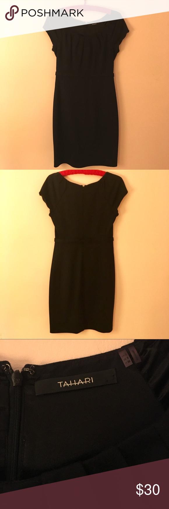 Tahari Black Dress Size 2 In 2020 Black Business Dress Black Dress Classic Black Dress [ 1740 x 580 Pixel ]