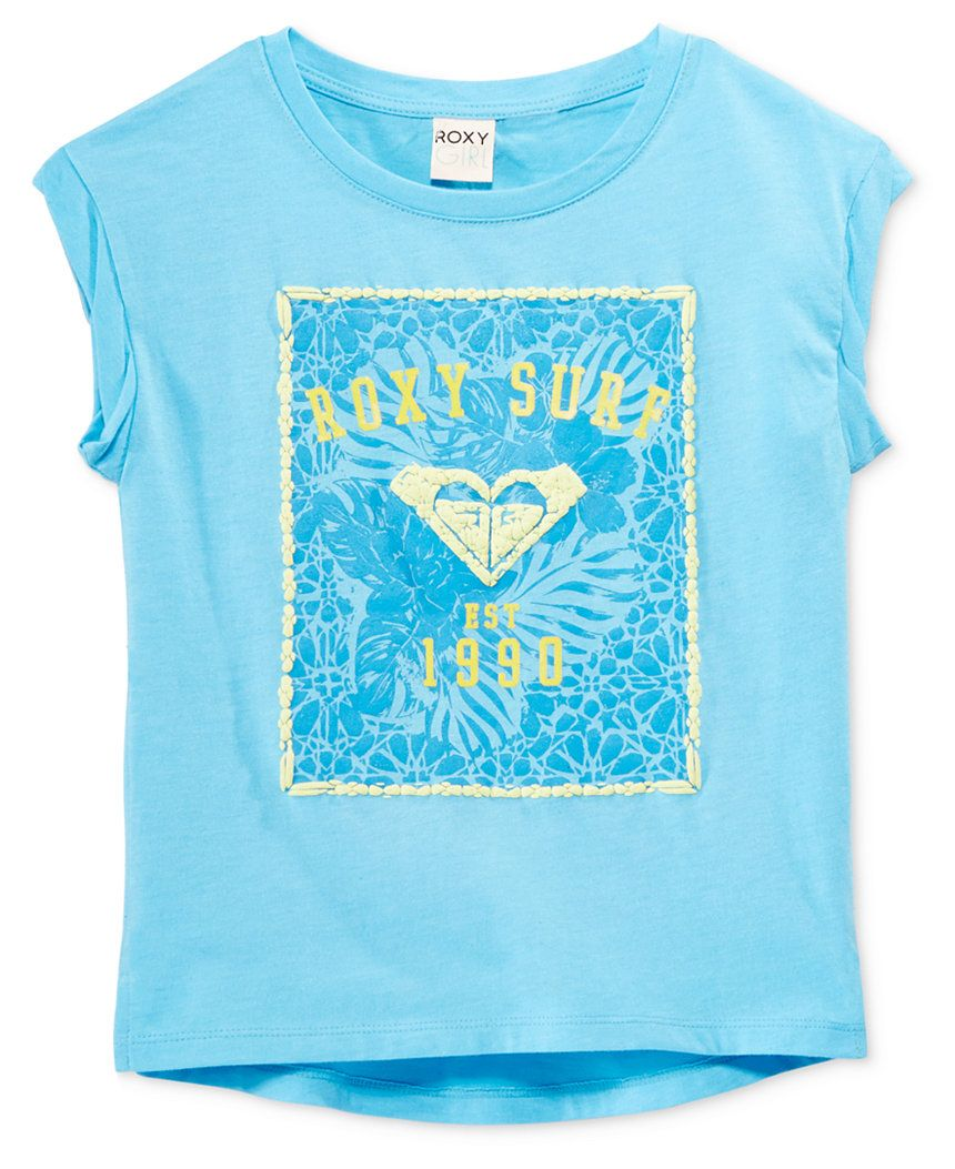 3f46cc22 Roxy Girls' Graphic-Print T-Shirt - Shirts & Tees - Kids & Baby - Macy's