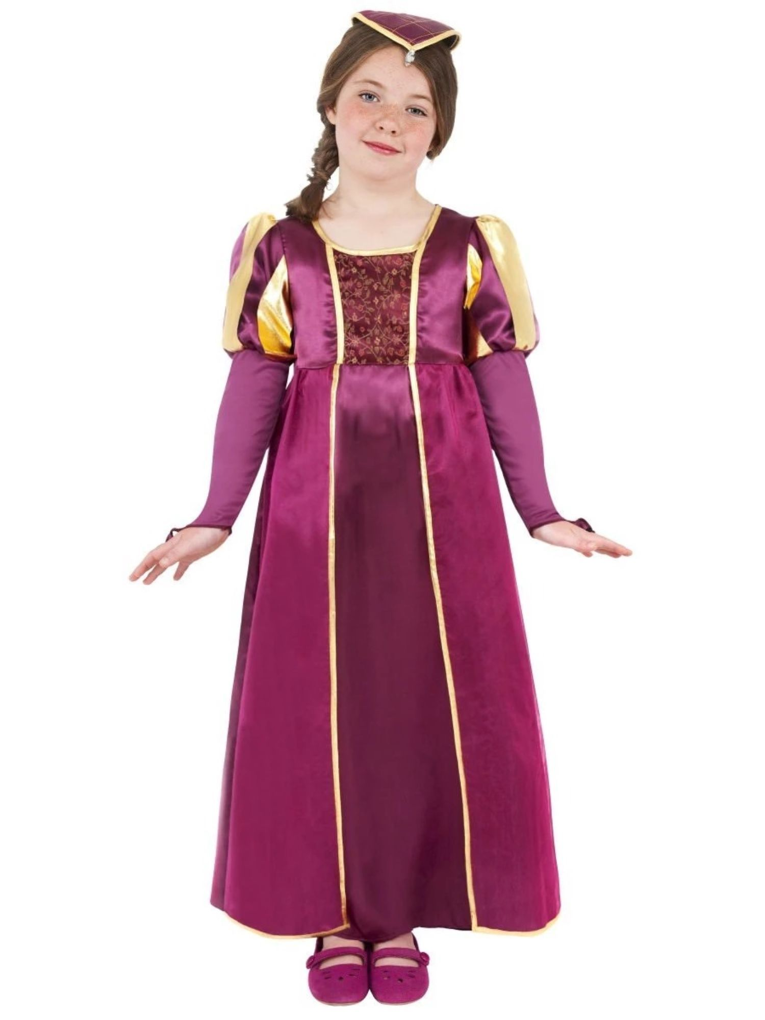 Medieval Regal Princess Halloween Costume Tudor Kids Book Day Fancy Dress Outfit