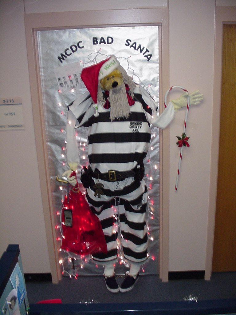 Funny Door Decor For Prison Christmas Door Decorating