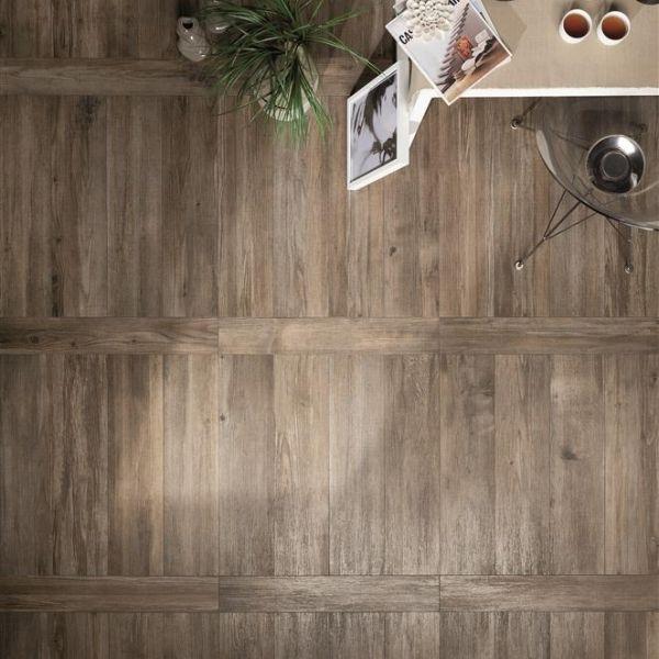 Fliesen Boden Leiter Verlegemuster-Ariana Dunkelbraun Tile