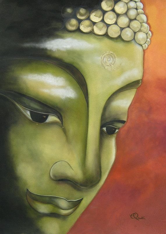 Buddha art print by Claudia Tremblay for yoga mediation room