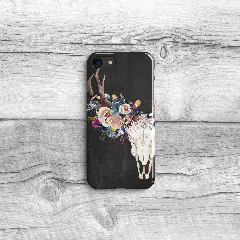 Cats Black Cat Feline iPhone Samsung Case Boho Chic PAT0175