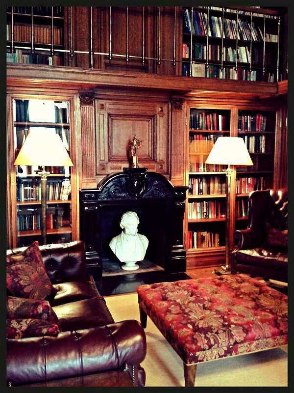 The library in the British Embassy in Moscow
