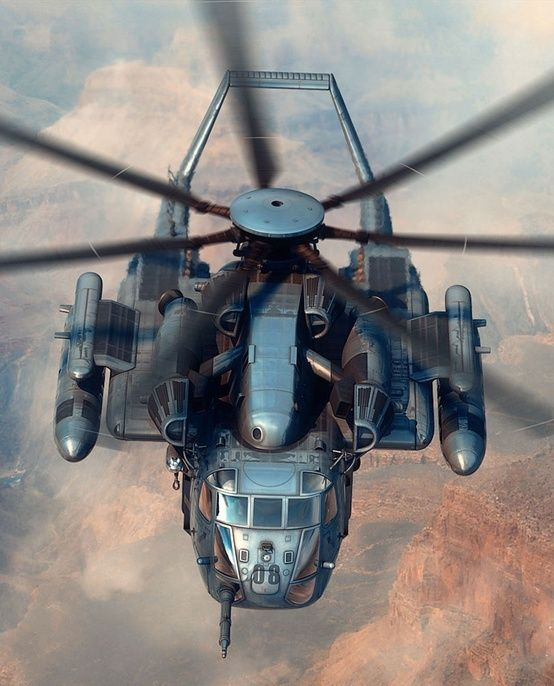 USAF CH-53. Name the mission, she'll do it. And the crew, well, always the A-team