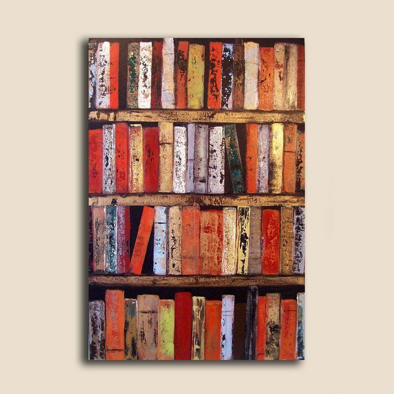 Large Abstract Painting 24 X 36 Custom Spicy Books Wall