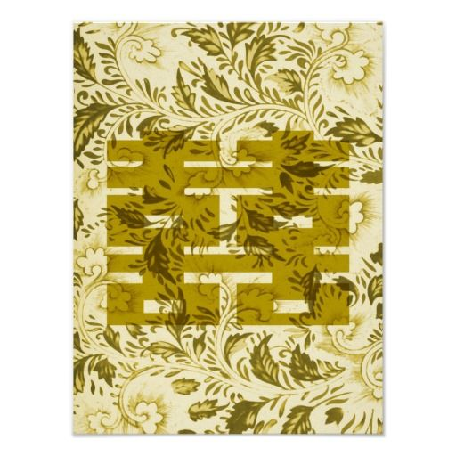 Double Happiness In Gold Poster Feng Shui Pinterest Feng Shui