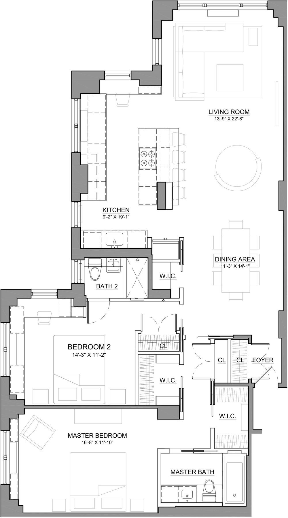 This Two Bedroom Apartment Is Stunning But It Ll Cost You East Village Apartments Apartment Plans Apartment
