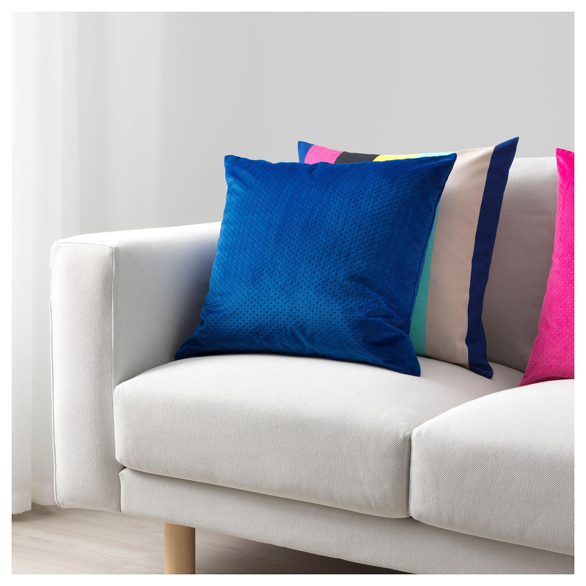 "VENCHE Cushion cover blue 20x20 "" (50x50 cm) Bed"