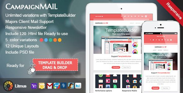 cool html email templates - 40 cool email newsletter templates for free email