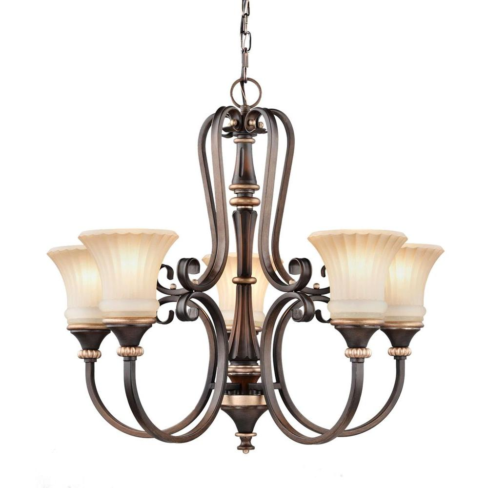This Chandelier Is Finished In Berre Walnut With Toned Driftwood Glass Shades Would Be A Lovely Light Fixture For Your Dining Room Or Foyer