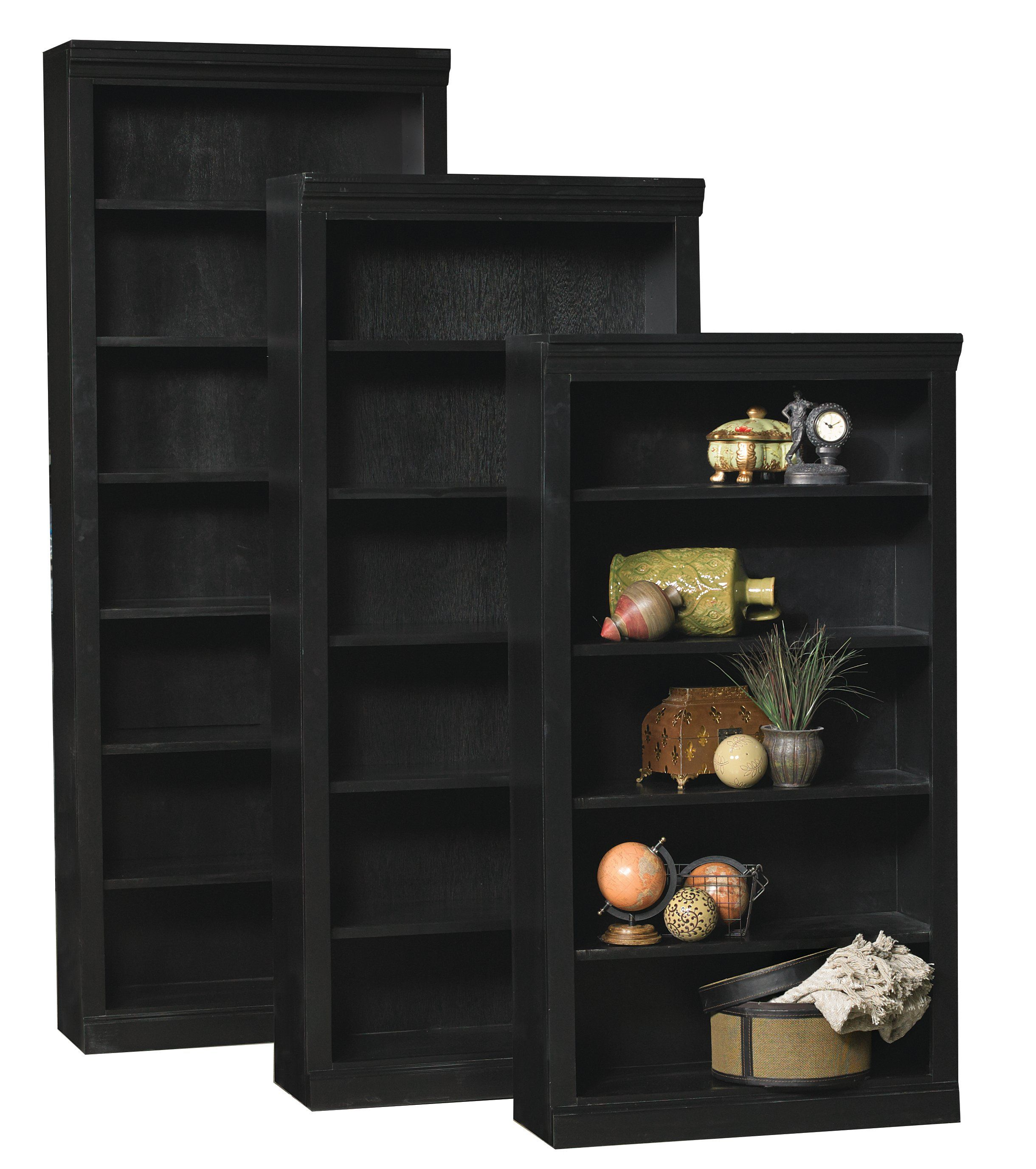 60 Inch Modern Black Bookcase Black Bookcase Black Bookshelf Bookcase