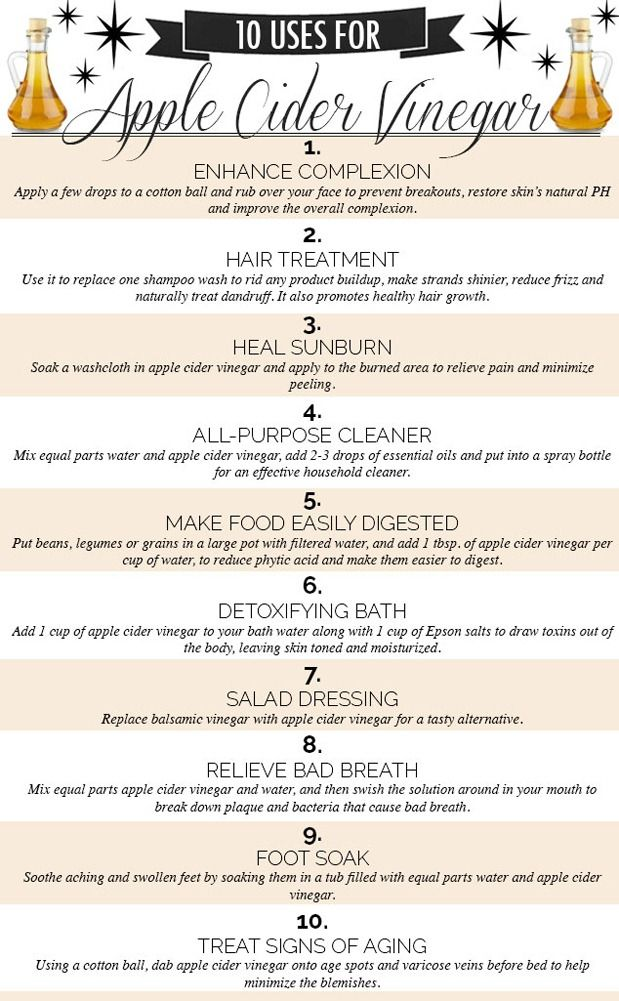 10 Uses for Apple Cider Vinegar