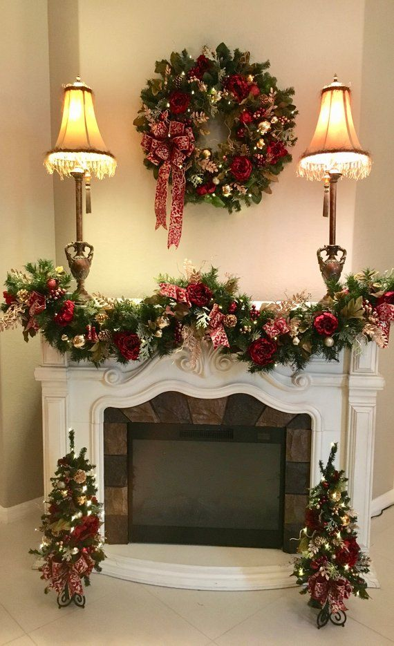 set of 4 pc christmas wreathfree shipping christmas garland topiary cordless