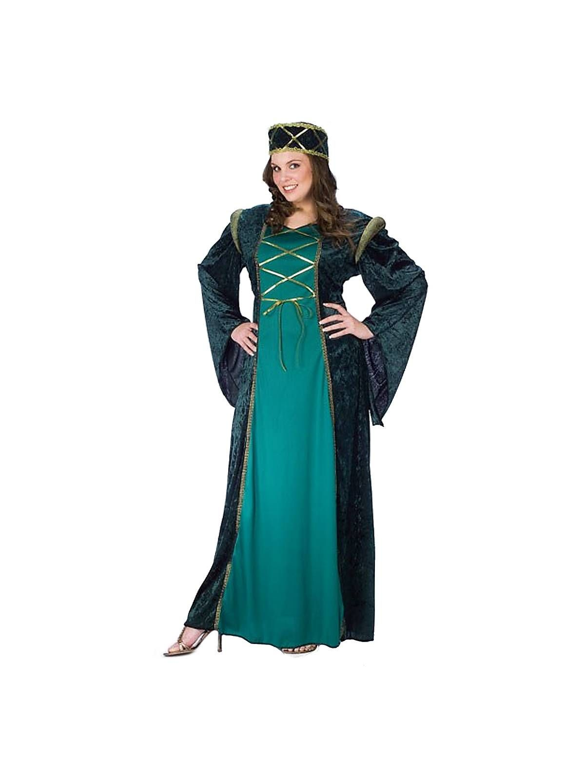 Green Lady In Waiting Costume Plus Size Renaissance Costumes