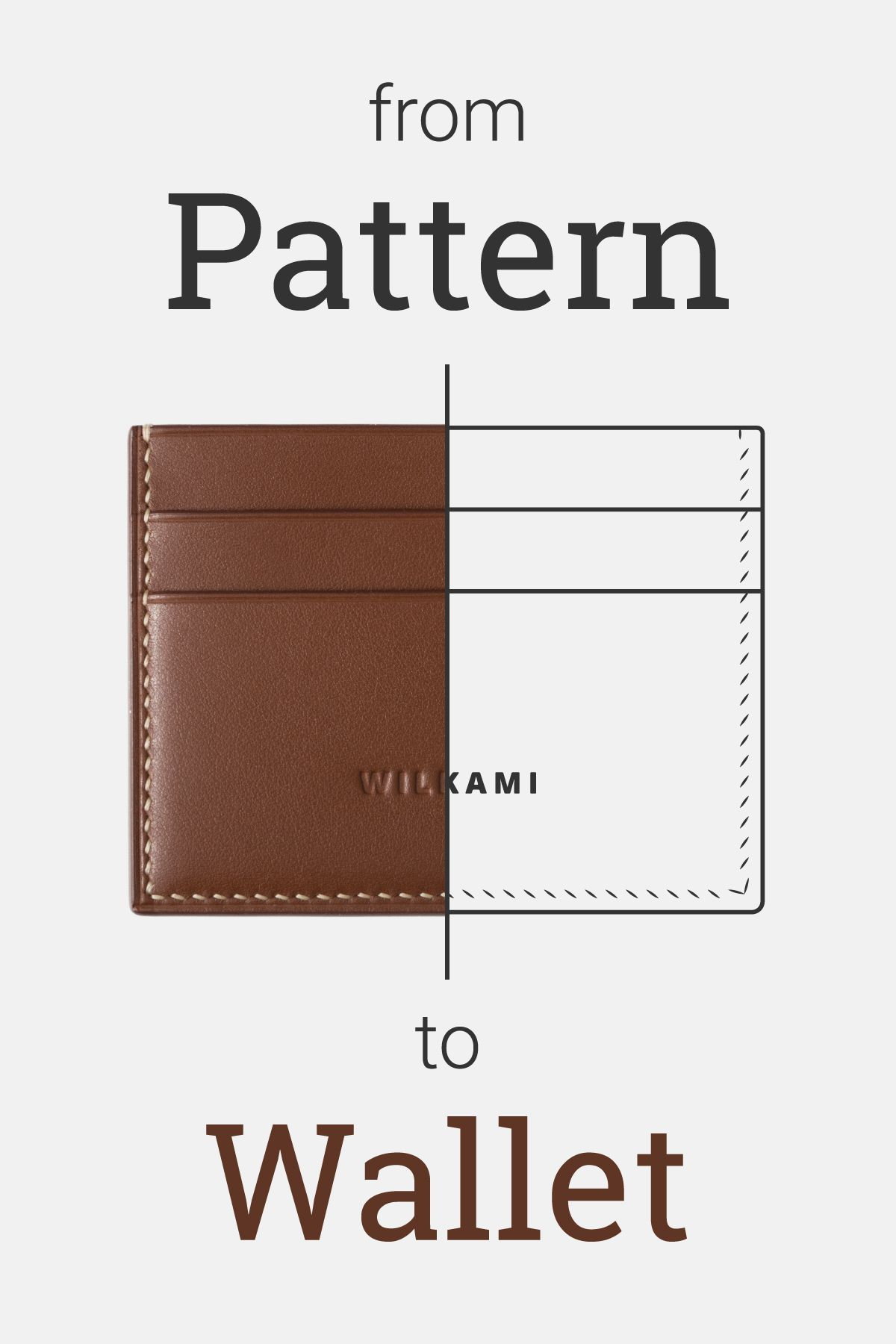 Slim Cardholder Pdf Pattern With Step By Step Guide Card Wallet Pattern Wallet Pattern Leather Wallet Pattern