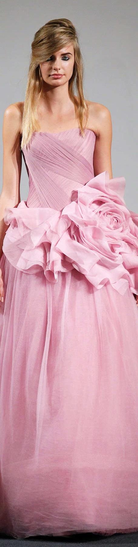 Único Vestido Rosa Dama Wang Vera Componente - Colección de Vestidos ...