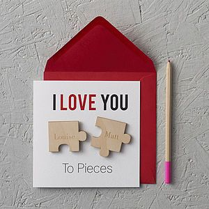 'I Love You To Pieces' Magnets Card