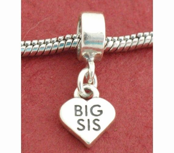 Sterling Silver Big Sis Sister Charm Fits Pandora By Juzii On Etsy 14 90 Charmed Sisters Pandora Style Charms Pandora Bracelet Charms