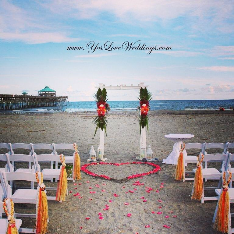 Beach Wedding Folly Charleston Sc Beachwedding