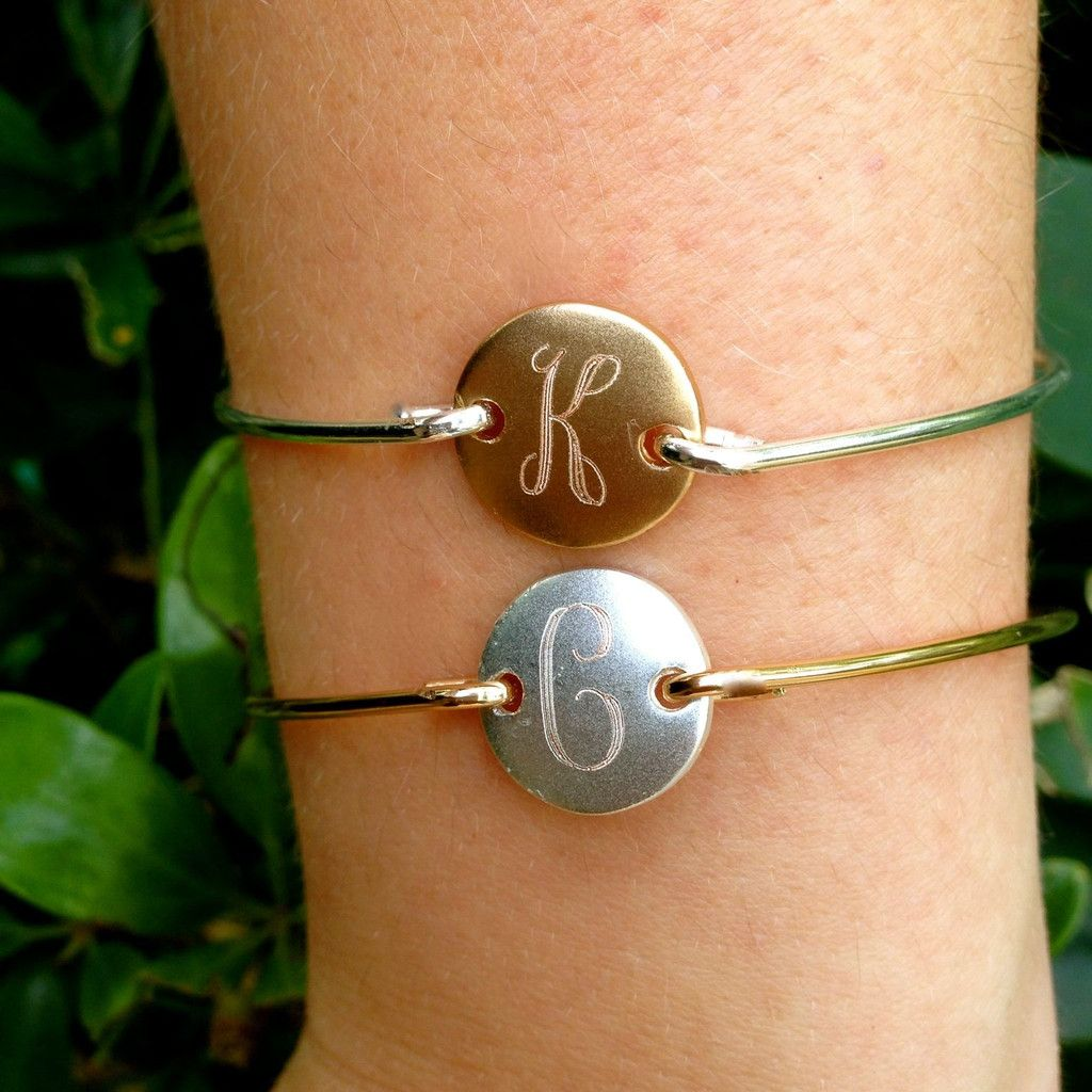 Available in Gold Disc Silver Bangle or Silver Disc Gold ...
