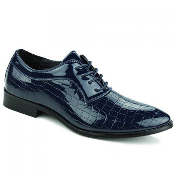 Simple Patent Leather and Crocodile Print Design Formal Shoes For Men #shoes, #jewelry, #women, #men, #hats