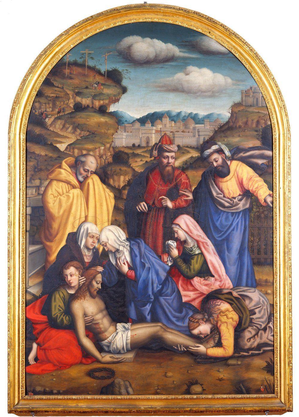 Lamentation with Saints, restored 2006