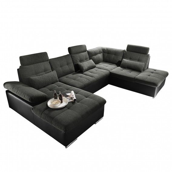 big sofa kunstleder awesome dreamshome polsterecke mike. Black Bedroom Furniture Sets. Home Design Ideas