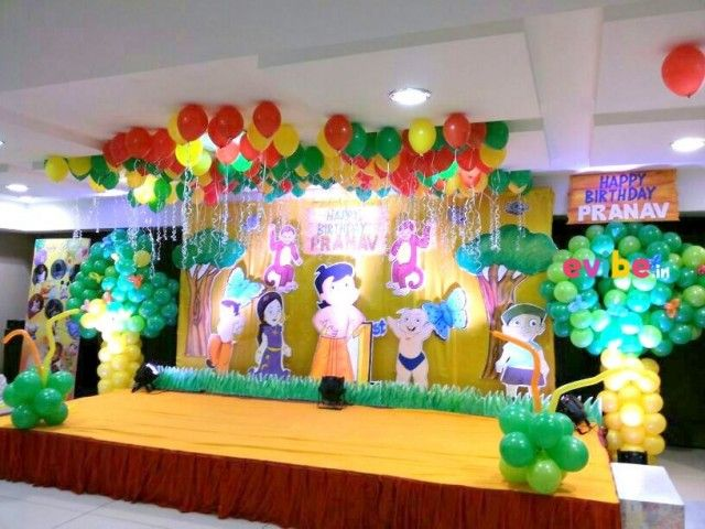 Amazing Chota Bheem Theme Decor Theme Birthday Decorations In