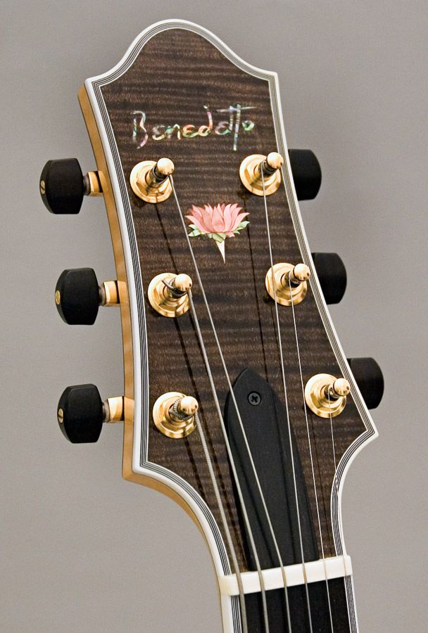 Lotus Headstock Benedetto Guitars Bass Ukulele Guitar Design Archtop Guitar
