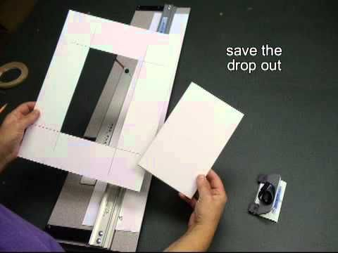 A Demonstration Of The 12 Steps To An Easy Double Mat Logan Graphic Products Inc Frame Matting Diy Diy Picture Frames Matting Pictures Diy