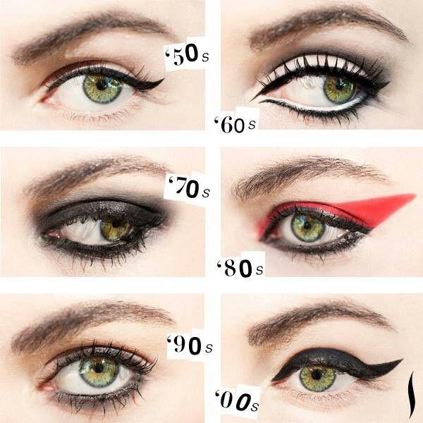 Rock Roll Eyes Throughout The Years Punk Makeup Rock Makeup Eye Makeup